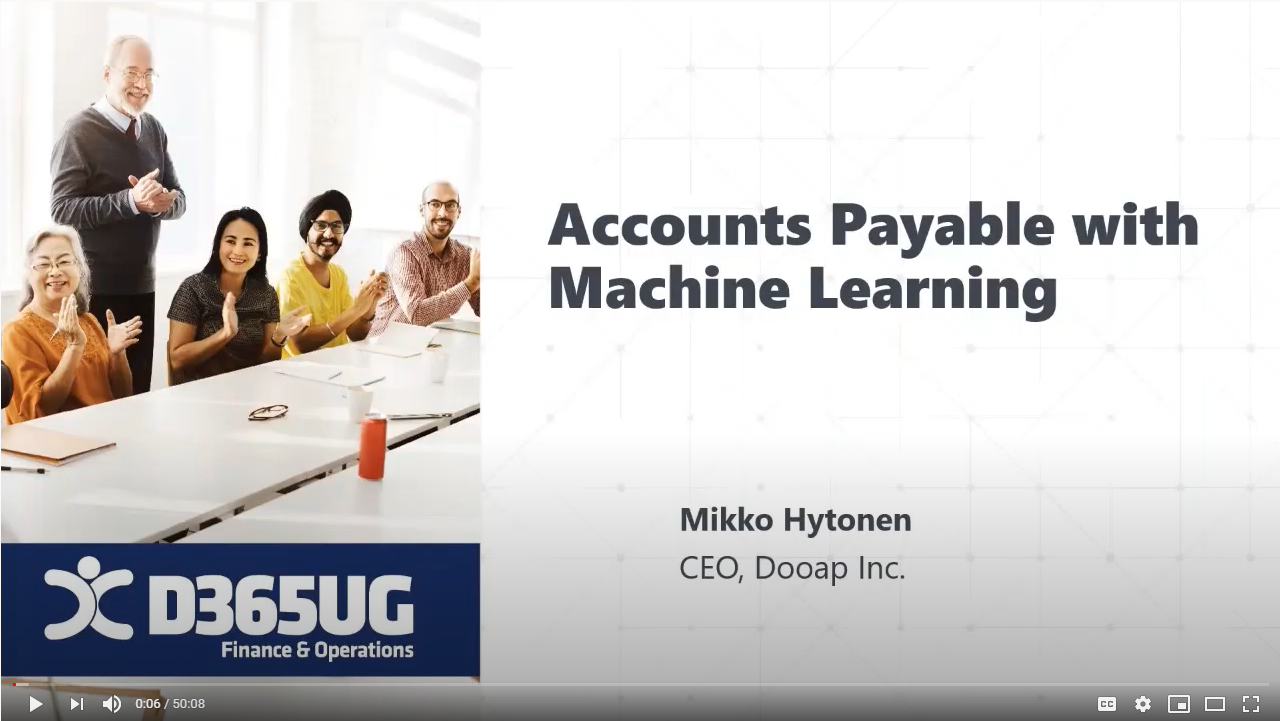 Accounts Payable with Machine Learning