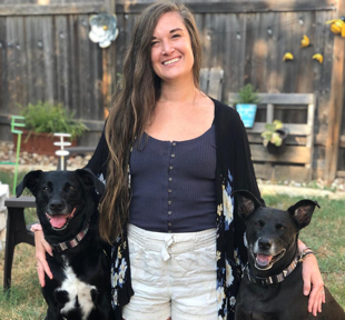 Amanda and her dogs