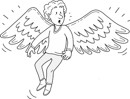 Clarence gets wings